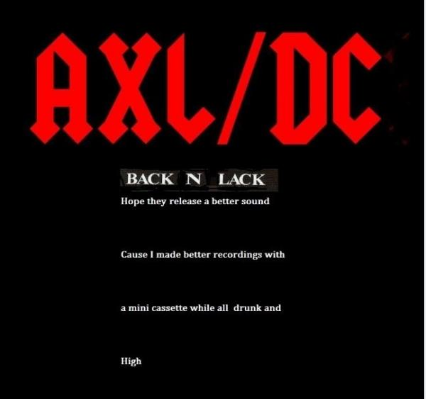 AXL/ DC - Back In Lack (Live)
