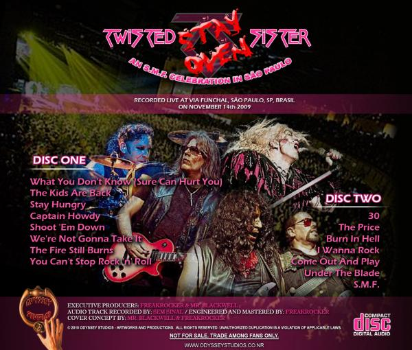 Twisted Sister - Stay Oven - A SMF Celebration In São Paulo (Live)