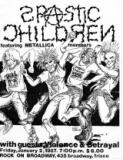 Spastic Children (Metallica) - Berkeley California 21-06-1986, Oakland California 03-01-1989