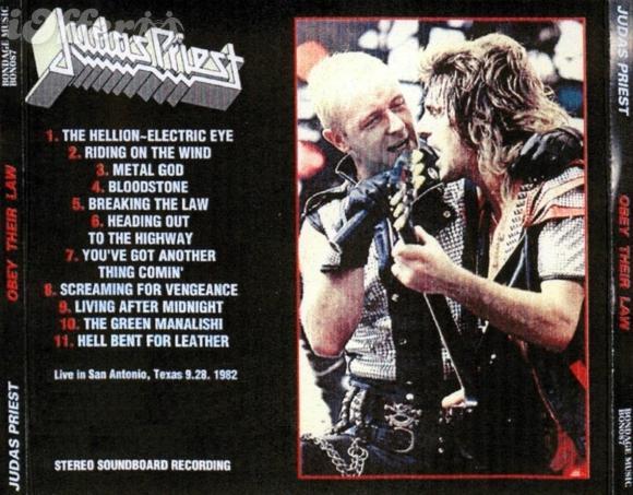 Judas Priest - Obey Their Law - San Antonio, TX 09 28 82