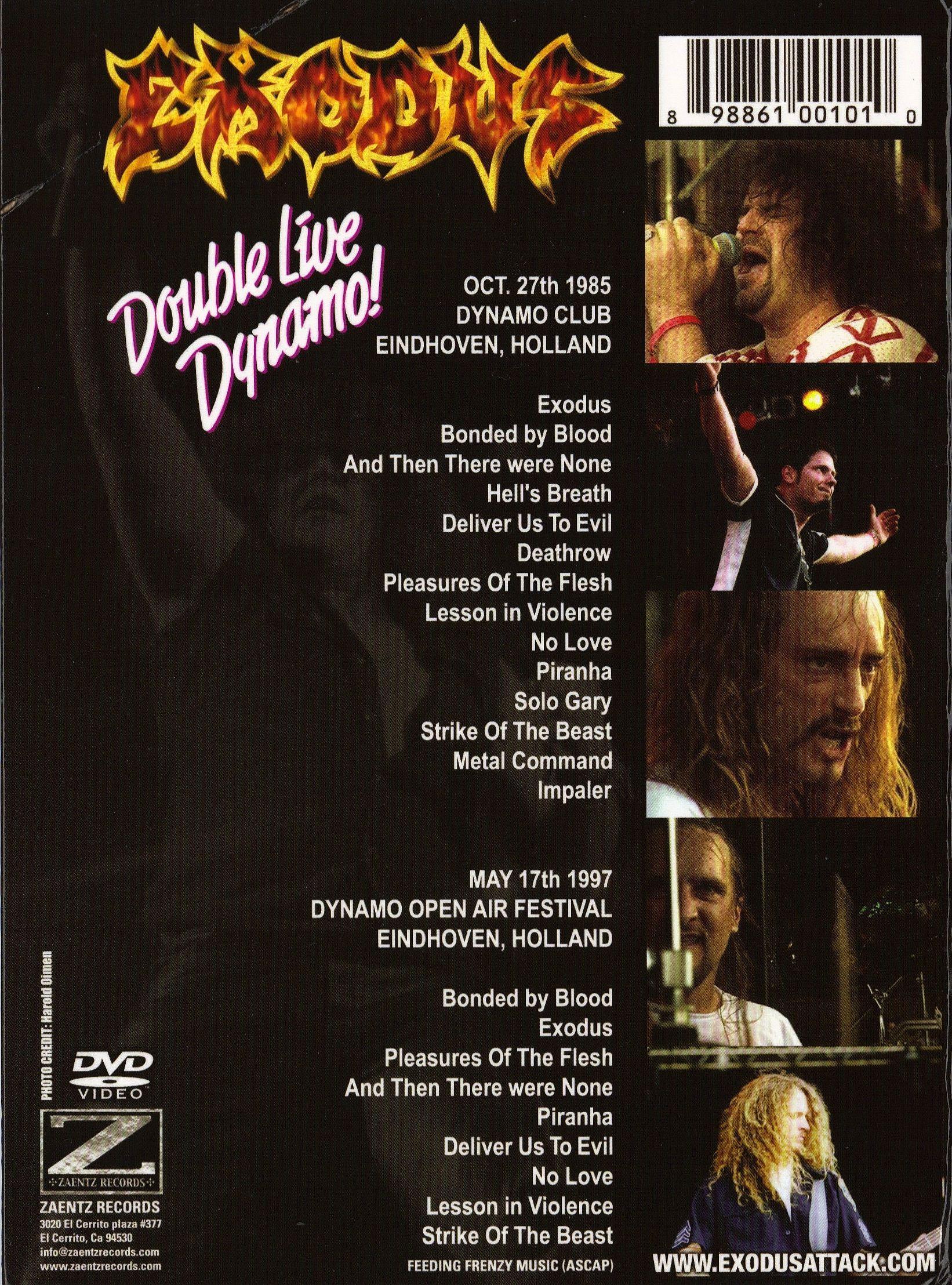 Exodus - Double Live Dynamo (DVD) (2007, Thrash Metal