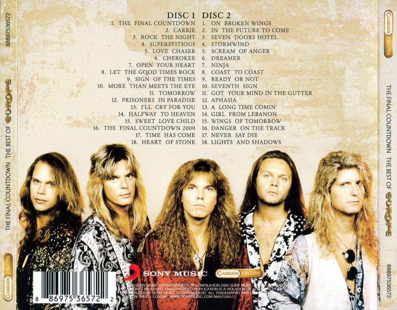 Europe the final countdown tour 1986 cutlass