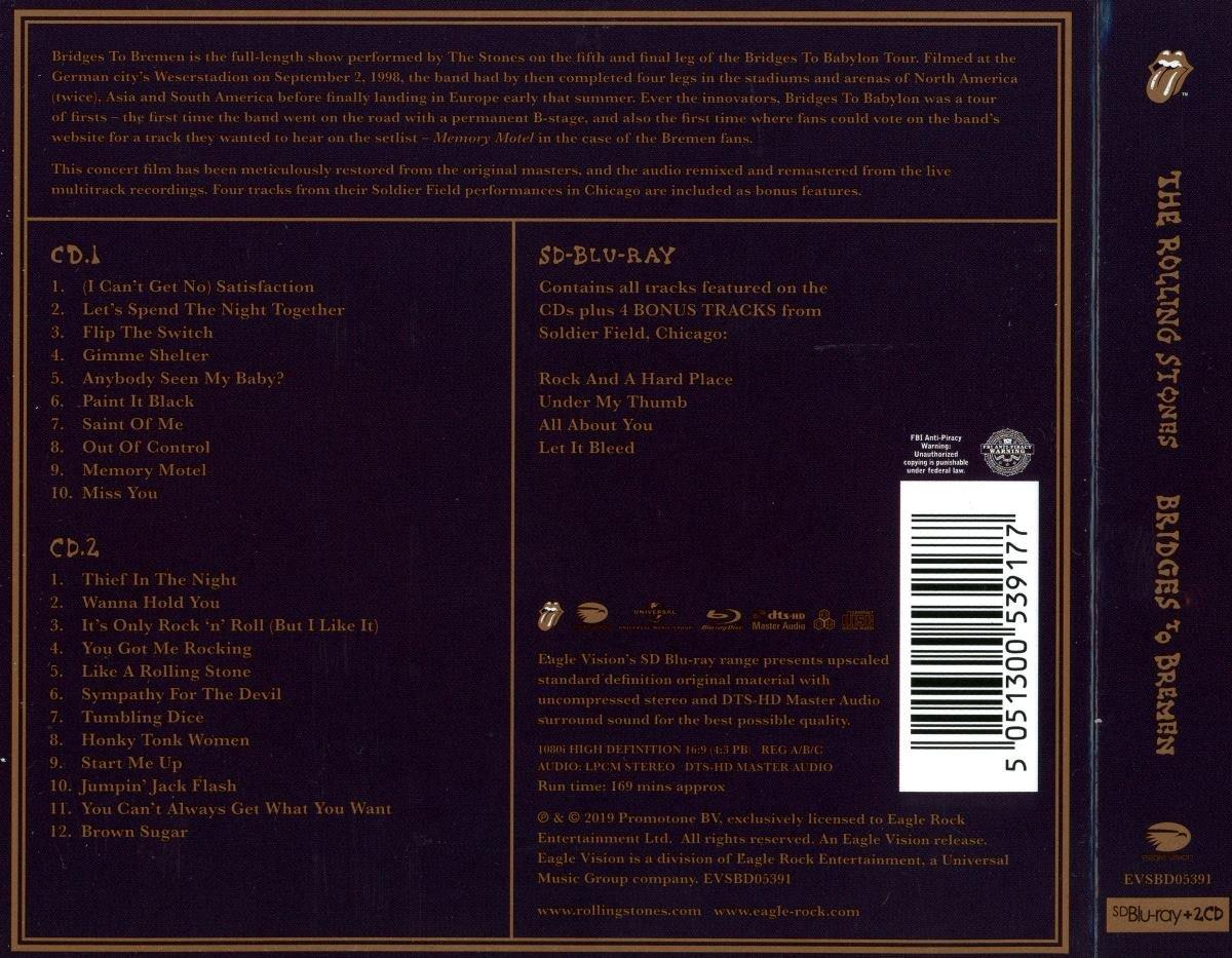The Rolling Stones - Bridges To Bremen: Live' 1998 (2CD) (Lossless